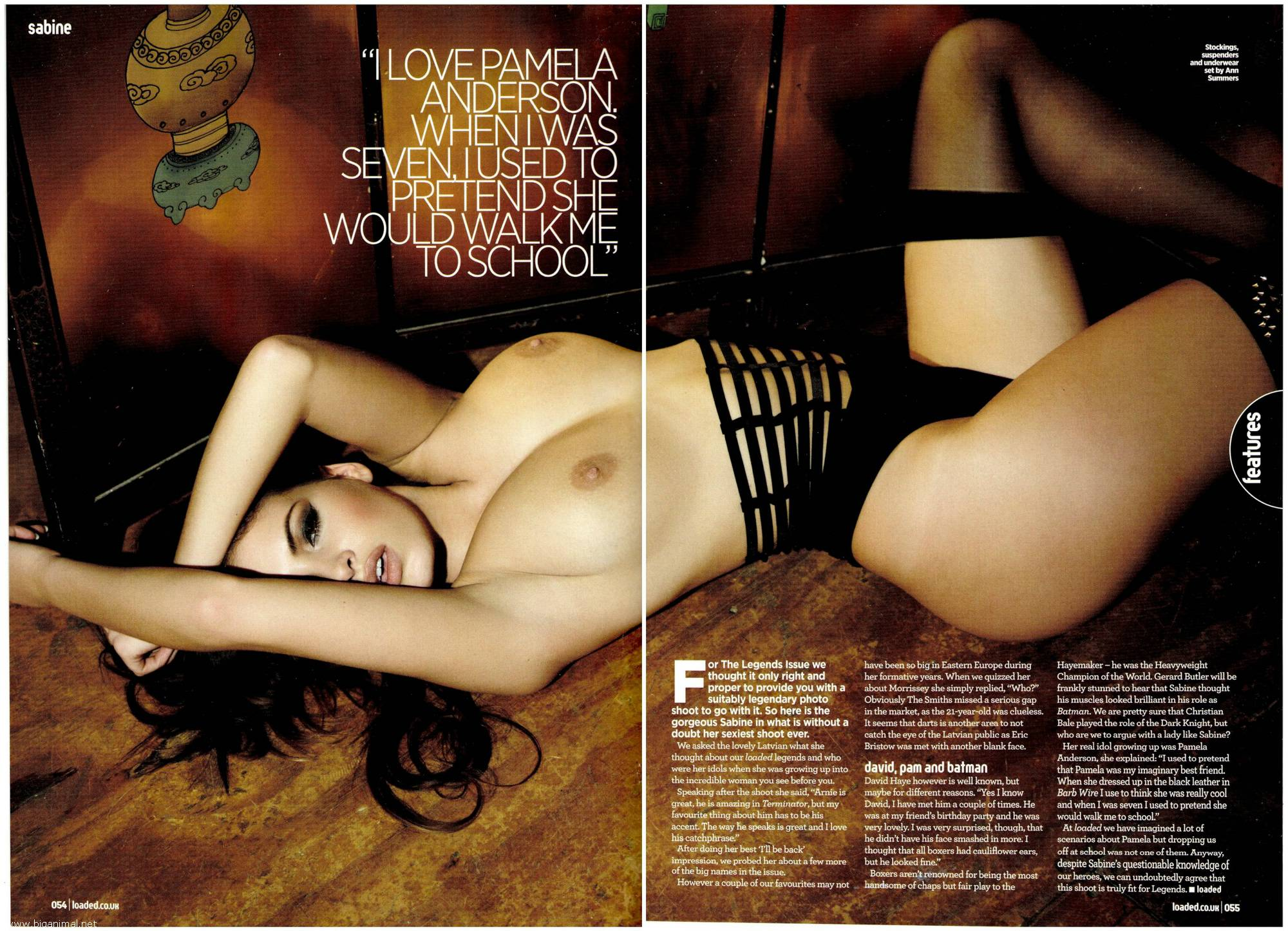 Sabine Jemeljanova – Loaded magazin (veljača 2013)