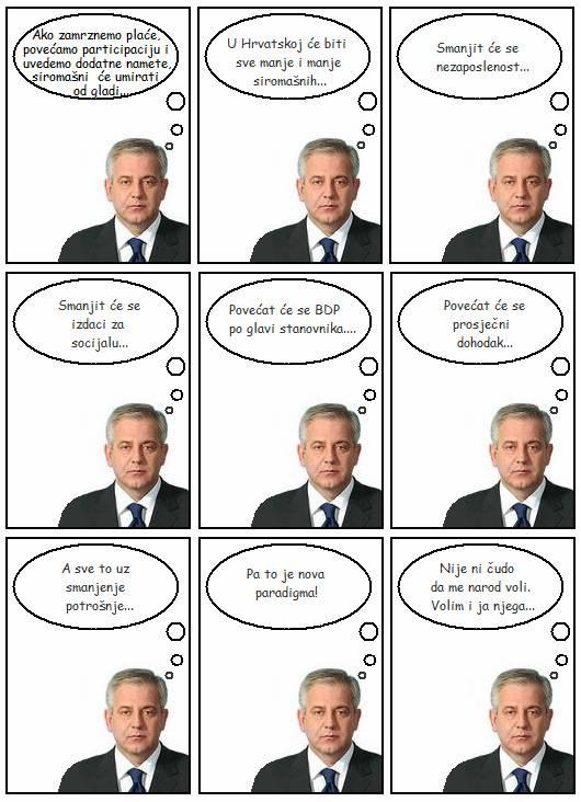 Smiješni stripovi Sanader-smanjenje_troskova