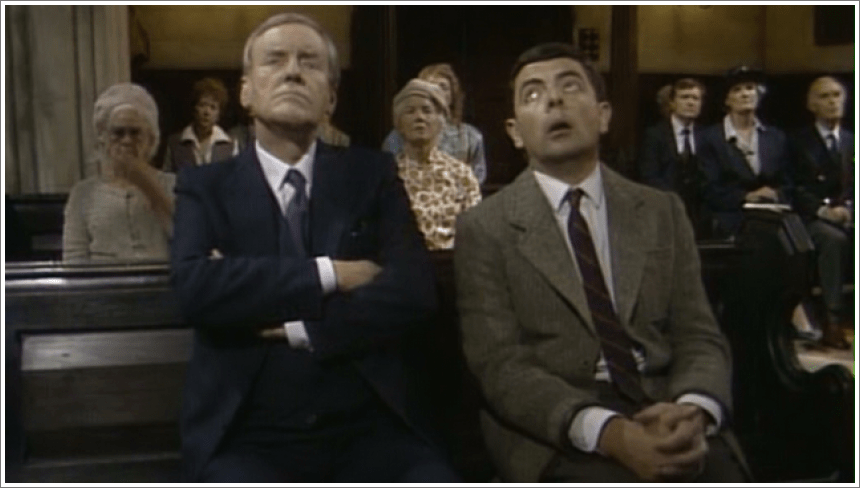 Mr Bean - Asleep in Church