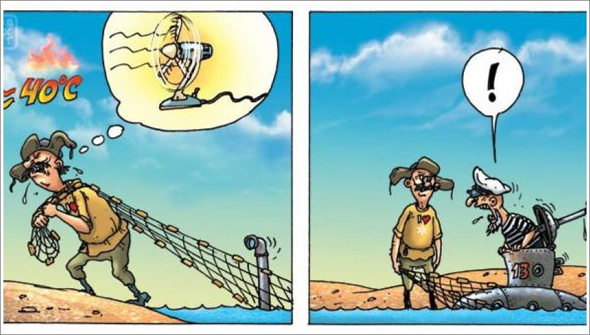 Ribar i podmornica