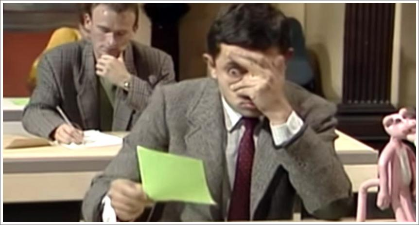 Mr Bean - The Exam Cheat