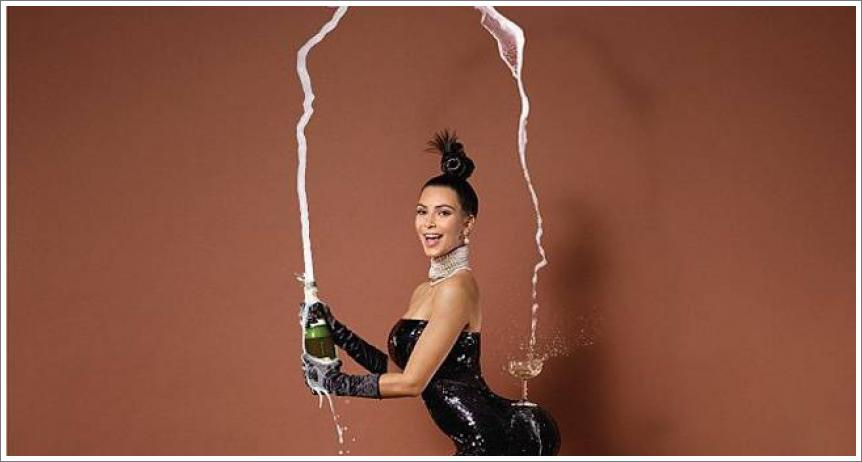 Kim Kardashian gola za Paper magazin