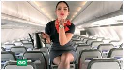 Seksi stjuardese u uniformi i bez nje №8